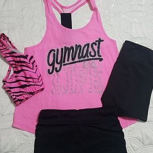 Gymnasts girls outfit